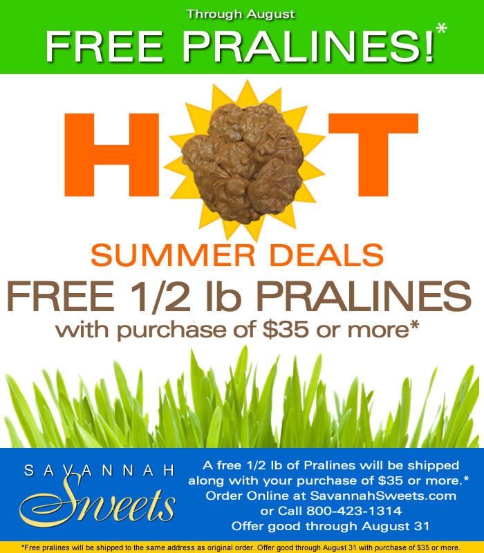 Free pralines through August