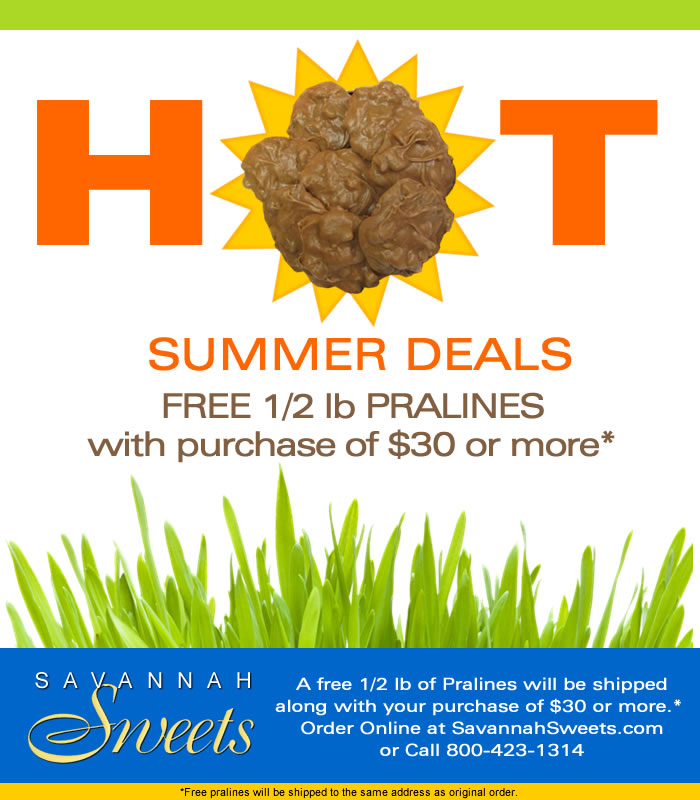 free pralines with purchase